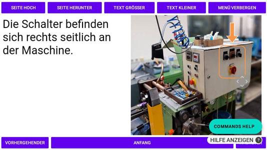 Screenshot Anzeige Datenbrille