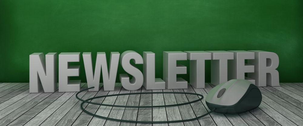Newsletter Schrift