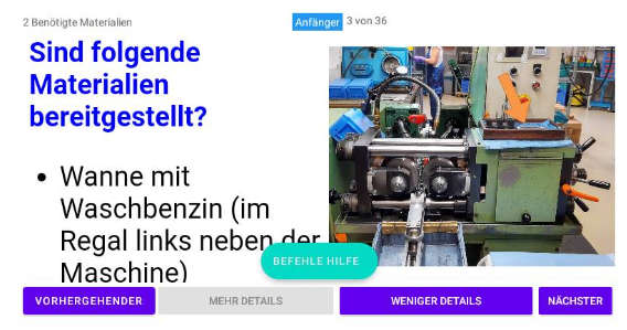 Screenshot Player Anzeige auf der HMT-1