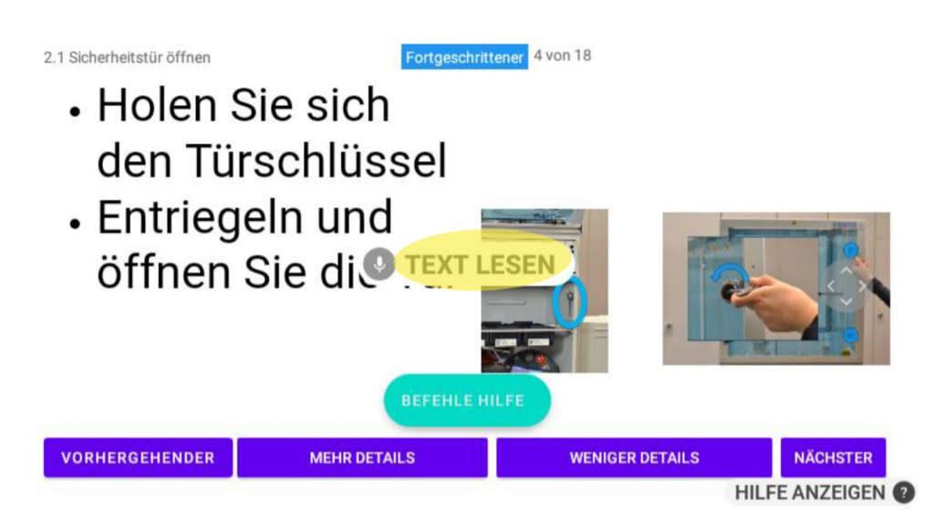Screenshot Player mit Button TEXT LESEN